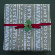 DIY Christmas Gift Wrap Ideas / this gave me the idea to decorate flat boxes for my walls to decorate at Christmas.