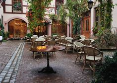 A hidden courtyard with a secret café in Colmar. Read our insider's tips to visit France Visit France, France 1, Paris France, Outdoor Furniture Sets, Outdoor Decor, Most Visited, France Travel, Countries Of The World, Patio