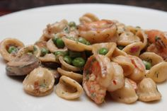 Creamy Orecchiette with Shrimp