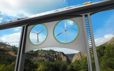 Turbinas de viento adaptadas podrían instalarse bajo los mayores puentes de la red de carreteras para producir electricidad.