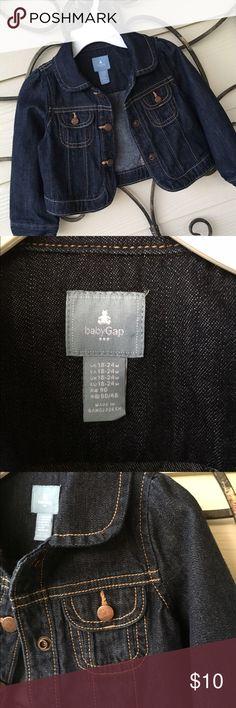 Adorable 👶🏼jean Jacket! Baby Gap  Denim Jacket SZ 18-24 months Baby Gap Jackets & Coats Jean Jackets