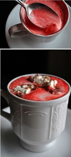 red velvet hot chocolate double