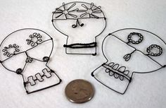 Wire calaveras would be so much fun to make!
