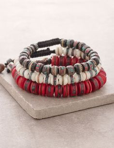 Tibet Healing Bracelet - Set of 3 (Red, White, Black)