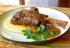 BRAISED LAMB SHANKS **RECIPE**  Falling-off-the-bone good  » basilkitchen.com/braisedLambShanks