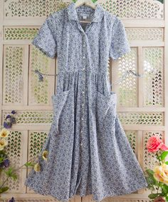 I can see myself collecting my chicken eggs on my farm in this dress...haha. Take a look at this White Calico Dress by April Cornell on #zulily today!