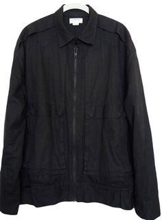 HELMUT LANG Mens Jacket Cotton Black Size L #HELMUTLANG #BasicJacket