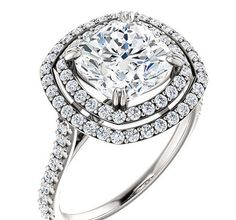 Moissanite Engagement Ring 2.48 Carats by DKBJewelryDesigns
