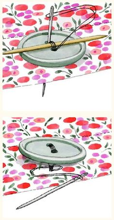 How to sew a button, from Sewing Made Simple by Tessa Evelegh. (Some of us need tips!) #MomInc
