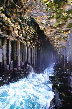 Fingal's Cave on the Isle of Staffa. Tips for Traveling to Scotland. What to Do,… Fingal's Cave on the Isle of Staffa. Tips for Traveling to Scotland. What to Do, See, & Eat. Places Around The World, Oh The Places You'll Go, Places To Travel, Travel Destinations, Places To Visit, Around The Worlds, Travel Tourism, Food Travel, Nightlife Travel