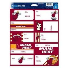Miami Heat Gift Tags * You can get more details by clicking on the image.