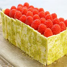Try this Pistachio and Raspberry Battenberg Cake recipe by Chef Sian. This recipe is from the show The Great Australian Bake Off.