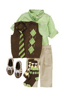 Crazy8...the boy's Easter outfit (well, the shirt and vest at least)