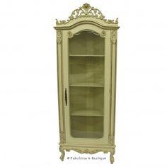 Helene French Corner Display Cabinet - Ivory French Ornate Modern Baroque & Rococo Furniture www.fabulousandbaroque.com