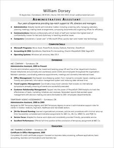 37 Best Administrative Assistant Resume Images Resume Templates
