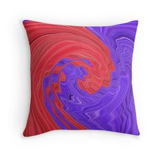 Red and Purple Circular Bold Abstract Art Design by Adri of Minding My Visions www.mindingmyvisions.com creative colorful artwork for sale on throw pillows, tote bags, cellphone cases, ipad and laptop skins, clothing, stickers, bedding, duvet covers and more!  https://www.facebook.com/mindingmyvisions