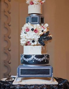 Add a glamorous touch to your wedding reception with a lavish wedding cake, start scrolling to see 30 delicious confections almost too pretty to eat...