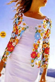 Lovely crochet summer jacket