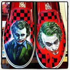 Joker Vans Shoes, Joker, Dress Up, Fictional Characters, Costume, The Joker, Fantasy Characters, Jokers, Comedians