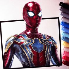 Spider-Man Drawing - Iron Spider Suit by LethalChris on DeviantArt Spider Drawing, Spider Art, Avengers Drawings, Drawing Superheroes, Cartoon Drawings, Art Drawings, Horse Drawings, Drawing Art, Iron Spider Suit