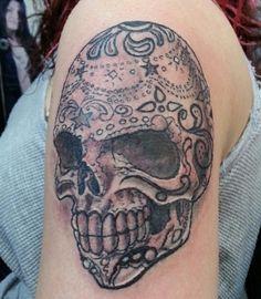 Tattoos by SES at Blackwork Tattoo Studio located in Little Falls, New Jersey #sugarskull #tattoo #tattoos #inked   Follow us on Instagram @blackworktattoosnj