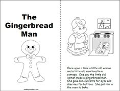 """FreeGingerbread Man Story for 1st and 2nd grade Students can practice reading this """"Gingerbread Man"""" story as part a gingerbread man unit. Read the story… Gingerbread Man Book, Gingerbread Man Activities, Pre-school Books, Mini Books, A Christmas Story, Christmas Ideas, Xmas, Comprehension Activities, Book 1"""