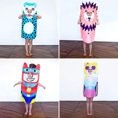 costumes in with paper bags