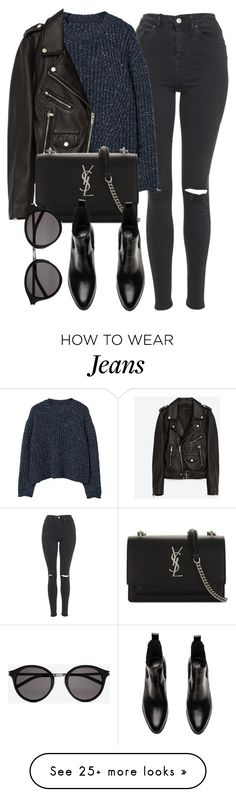 """Untitled #7083"" by laurenmboot on Polyvore featuring Topshop, MANGO, Jakke and Yves Saint Laurent"