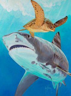 Guy Harvey on exhibit in #SHARK. #GuyHarvey discusses shark conservation: http://www.youtube.com/watch?v=VtQ-Q16q3DU=plcp