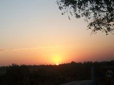 Um pôr-do-Sol encantador