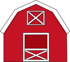 Red Barn Door Clip Art free printable barn templates | barn coloring pages this is your