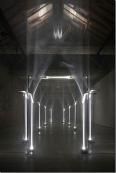 14 pillars of light installation -Titled Arcades by TROIKA_SHOAL