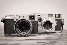 Fuji X100 in front of the 35mm film Zeiss Ikon