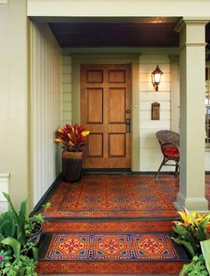 Painted porch (I wonder how bad this would stand out in my neighborhood :)