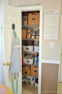 Organized kitchen +