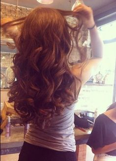 Thick Brunette Curls - Hairstyles and Beauty Tips
