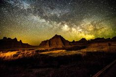 'I love photography, nature, and astrophotography. I took this photo at Cedar Pass in Badlands National Park just before sunrise.' —David Schaefbauer, Rapid City, South Dakota