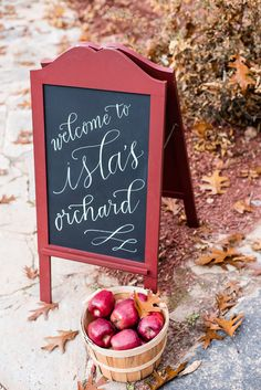 Apple orchard first birthday | Kelley Cannon Events | 100 Layer Cakelet; calligraphy by Meant to be Calligraphy