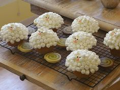 Sheep Coconut Cupcakes
