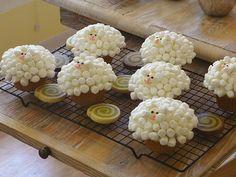 Sheep Coconut Cupcakes