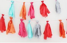 DIY, no sew bunting, pretty cute for a kids room.