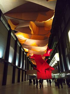 Richard Tuttle Artist Largest Art Work I Don't Know The Weave of Textile Language Monumental Sculptural Installation Turbine Hall Tate Modern London
