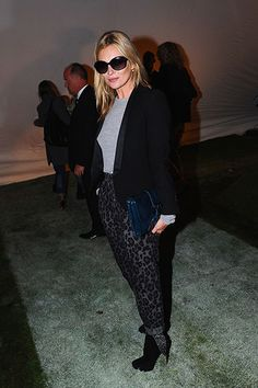 London Fashion Week Spring 2014: Topshop Unique Front Row - Kate Moss