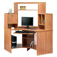 "Realspace® Magellan Collection Corner Workstation, 63 1/2""H x 66""W x 31 1/2""D, Honey Maple 
