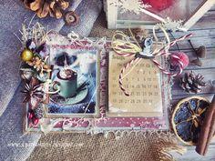 Скрап-коктейль: Календарь. Новогодняя сказка продолжается :)
