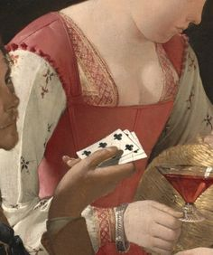 detailsofpaintings: Georges de la Tour, The Cheat with the Ace of Clubs (details) c.1630-1634