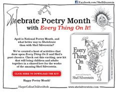 HarperCollins children's books is calling this: SHELebrate Poetry Month. They have a FREE 16 page packet