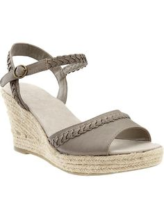 Old Navy | Women's Braided-Trim Mid-Wedges