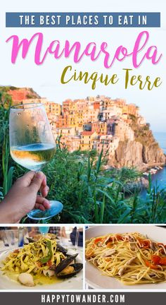 The most delicious places to eat in Manarola, Cinque Terre, Italy! Click through to see restaurant and bar recommendations that will guarantee a great meal each time.