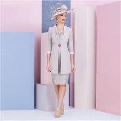 b436e82008c Ronald Joyce Veni Infantino Lace Dress With Jacket Taupe